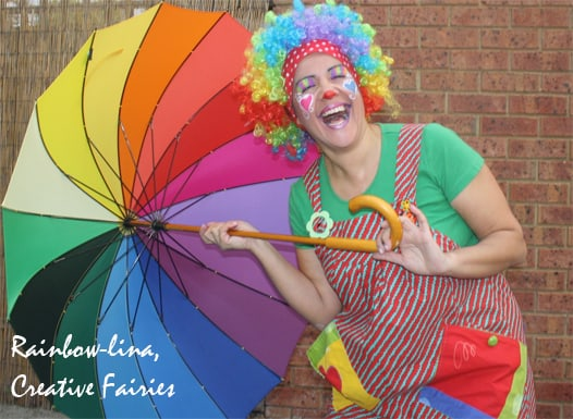 Rainbow-lina-clown
